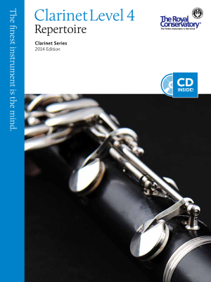Clarinet Repertoire Level 4, 2014 Edition - Book/CD