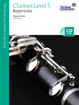 Clarinet Repertoire Level 5, 2014 Edition - Book/CD