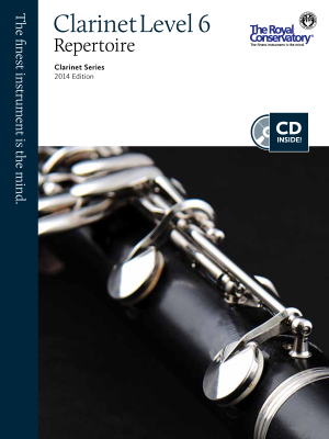 Clarinet Repertoire Level 6, 2014 Edition - Book/CD
