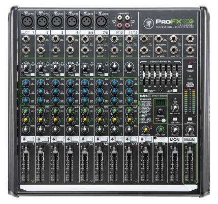 12-Channel Professional Effects Mixer with USB