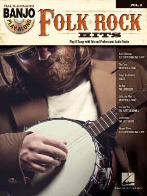 Folk/Rock Hits: Banjo Play-Along Volume 3 - Book/CD
