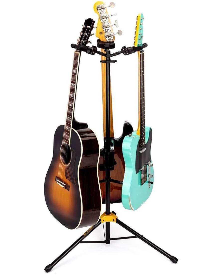 Guitar Floor Stand : hercules stands triple hanging guitar floor stand long mcquade musical instruments ~ Vivirlamusica.com Haus und Dekorationen