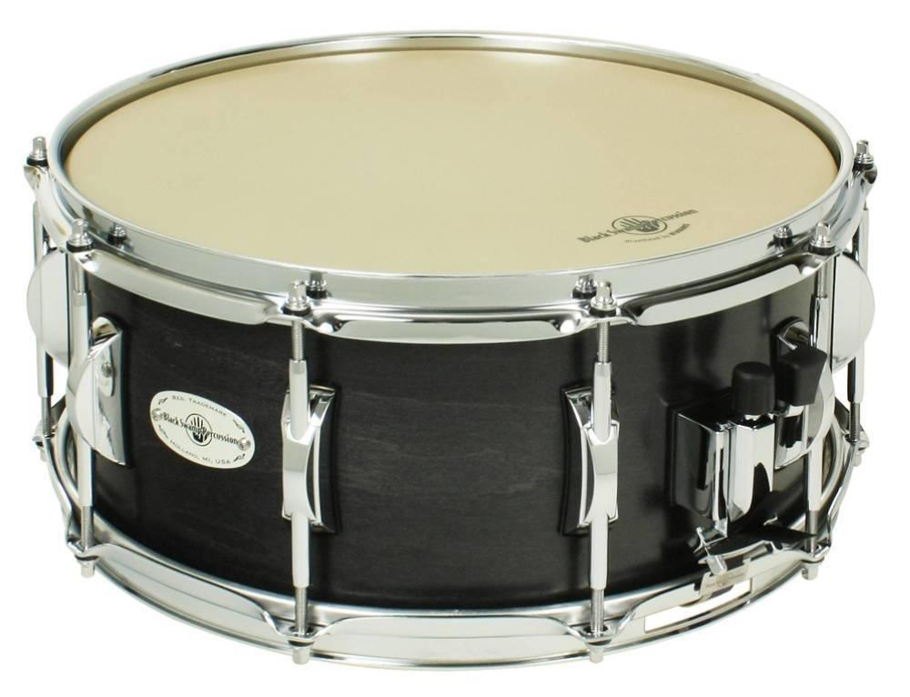 black swamp concert maple snare drum 6 5 x 14 inch long mcquade musical instruments. Black Bedroom Furniture Sets. Home Design Ideas