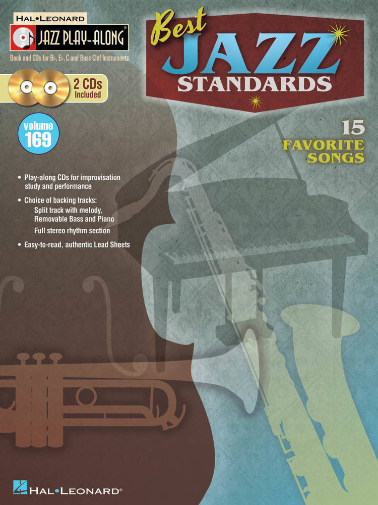 hal leonard best jazz standards jazz play along volume 169 book 2 cds long mcquade. Black Bedroom Furniture Sets. Home Design Ideas