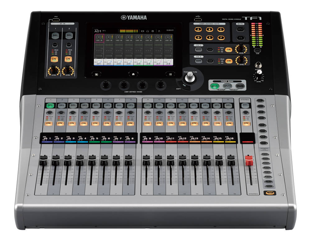 yamaha 16 channel 40 input digital mixing console long mcquade musical instruments. Black Bedroom Furniture Sets. Home Design Ideas