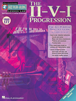 The II-V-I Progression: Jazz Play-Along Lesson Lab (Volume 177) - Book/Audio Online