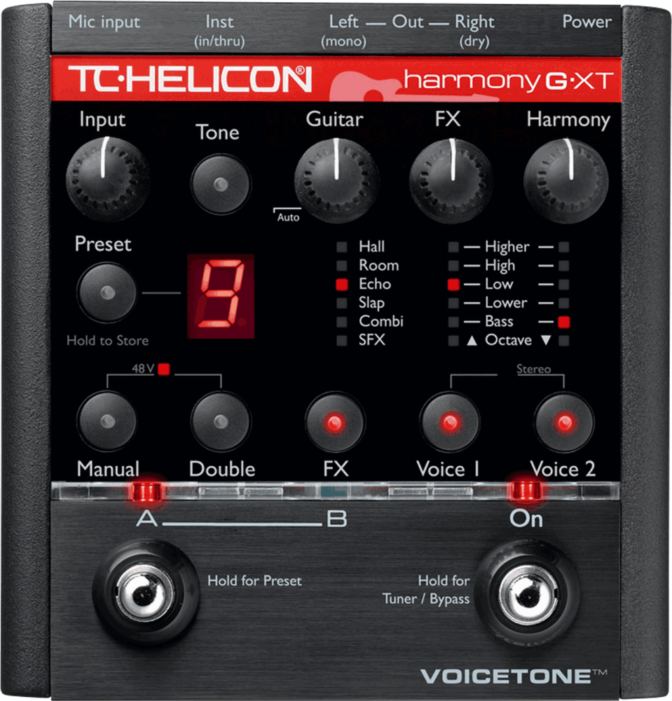tc helicon voicetone harmony g xt pedal long mcquade musical instruments. Black Bedroom Furniture Sets. Home Design Ideas