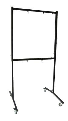 Square Set Gong Stand with Rollers for Two  24'' to 26'' Gongs