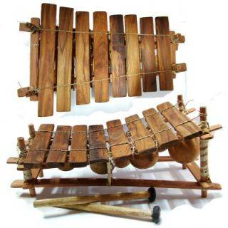 African Fixed Key Balafon Wooden Xylophone | Calabash ...  |African Wooden Xylophone