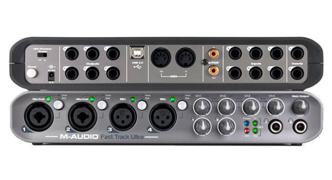m audio fast track ultra usb interface long mcquade musical instruments. Black Bedroom Furniture Sets. Home Design Ideas