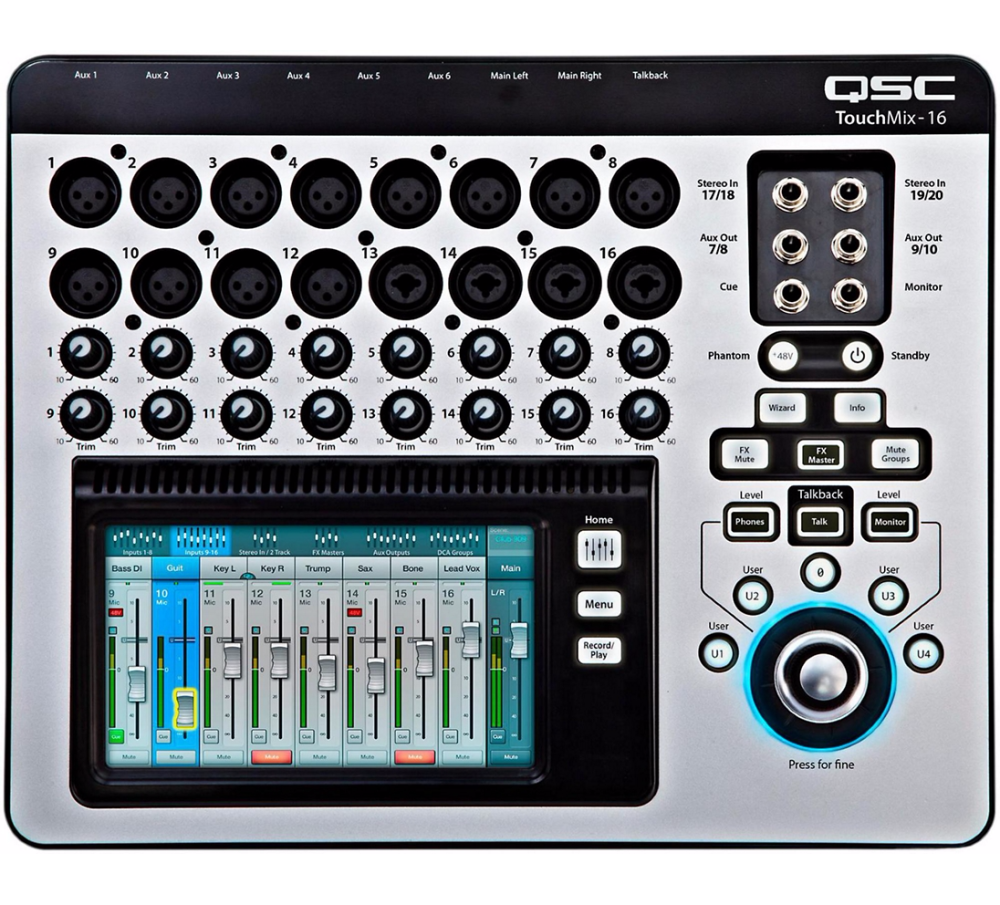 qsc touchmix 16 compact digital mixer with touchscreen long mcquade musical instruments. Black Bedroom Furniture Sets. Home Design Ideas