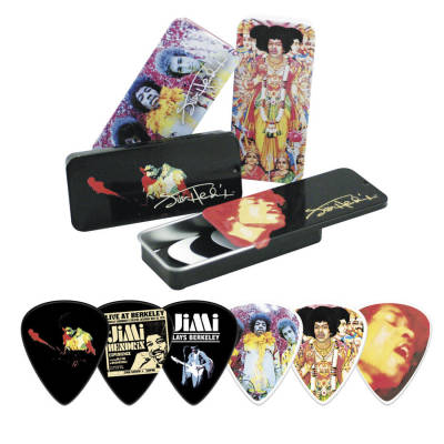 Jimi Hendrix Collector Pick Tin (Colour)