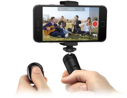Multifunction Smartphone Video Stand w/Bluetooth Shutter