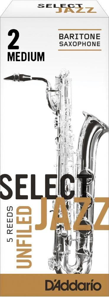 d 39 addario woodwinds select jazz baritone sax reeds unfiled strength 2 strength medium 5 pack. Black Bedroom Furniture Sets. Home Design Ideas