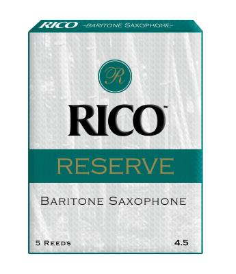 Rico Reserve Baritone Sax Reeds, Strength 2.0, 5-pack