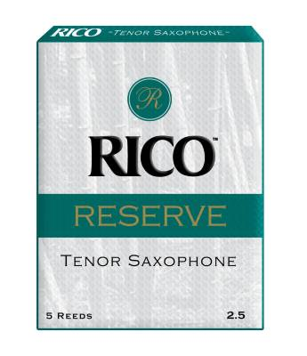 Rico Reserve Tenor Sax Reeds, Strength 2.5, 5-pack