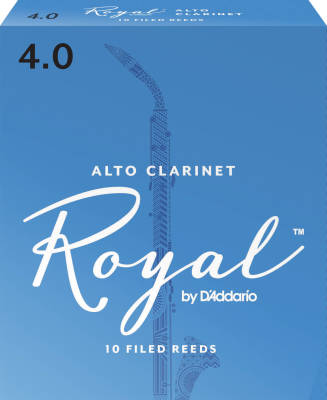 Alto Clarinet Reeds, Strength 4.0, 10-pack