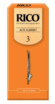 Alto Clarinet Reeds, Strength 3.0, 25-pack