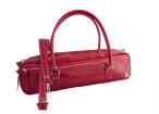 Fluter Scooter - Red Patent Leather Flute Bag