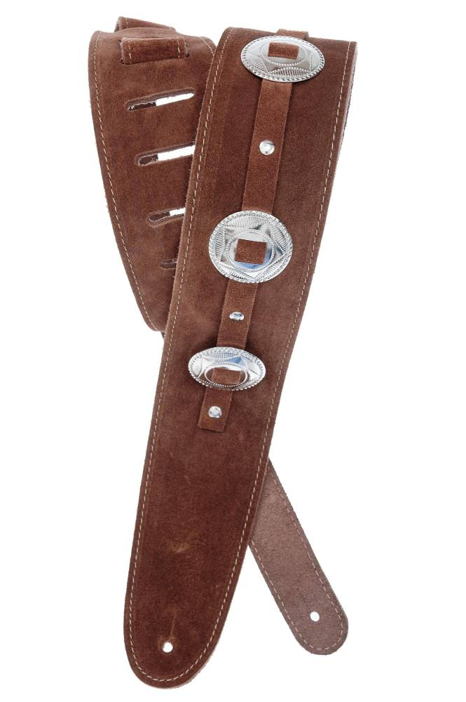 planet waves conchos guitar strap brown long mcquade musical instruments. Black Bedroom Furniture Sets. Home Design Ideas