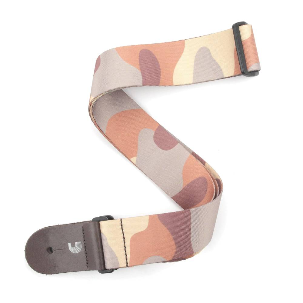 planet waves 2 39 woven guitar strap camo brown by d 39 addario long mcquade musical instruments. Black Bedroom Furniture Sets. Home Design Ideas