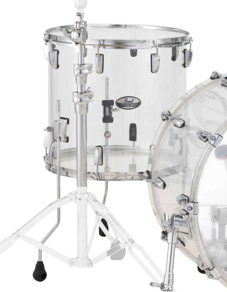 Pearl crystalbeat 18x16 inch floor tom clear long for 13 inch floor tom