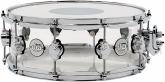 Drum Workshop - Design Series Acrylic 14x5.5 Inch Snare Drum w/ Chrome Hardware - Clear