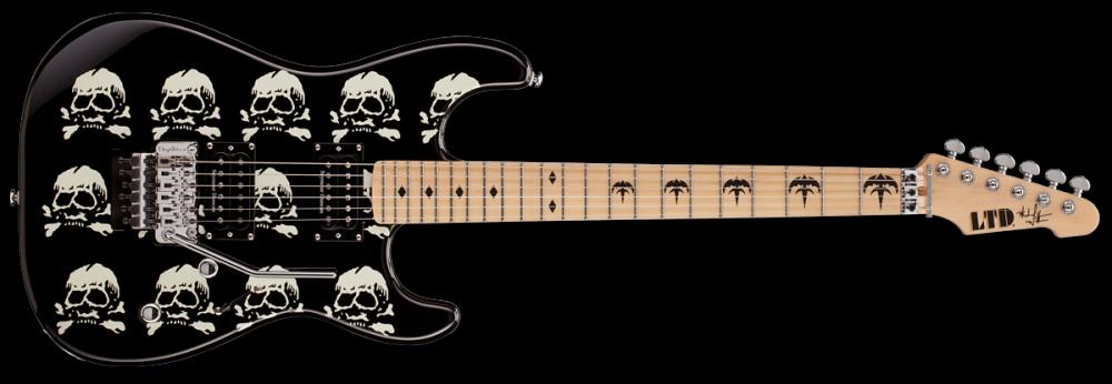 esp guitars ltd michael wilton skull graphic electric guitar long mcquade musical instruments. Black Bedroom Furniture Sets. Home Design Ideas