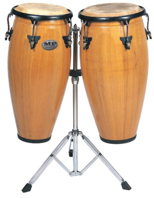 Conga Set 10 & 11'' with Stand - Natural