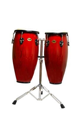 Conga Set 10 & 11'' with Stand - Red Wood