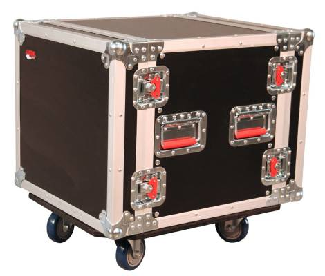 10U, Standard Audio Road Rack w/ Casters