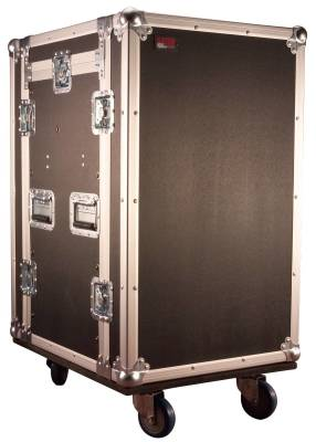 10U Top, 12U Side Audio Road Rack Case