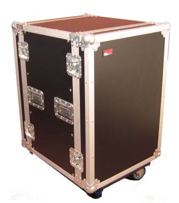 14U, Standard Audio Road Rack Case w/ Casters