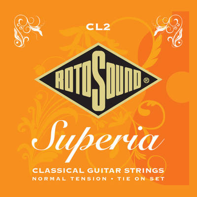 Superia Classical Guitar Strings -  Normal Tension - Tie On Set