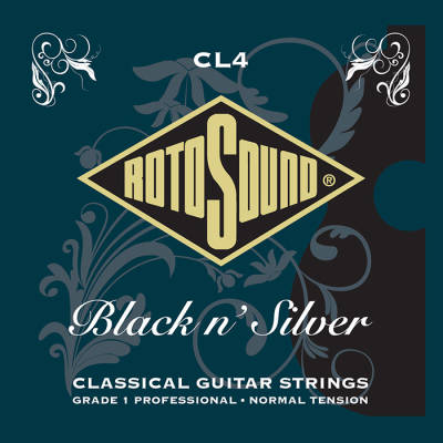 Black N' Silver Classical Guitar Strings - Normal Tension