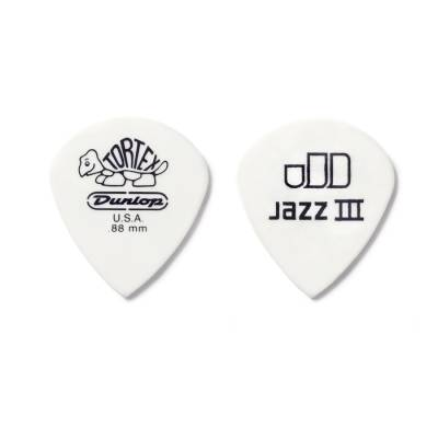 Tortex Jazz III White Picks Player Pack (12 Pack) - 0.73mm