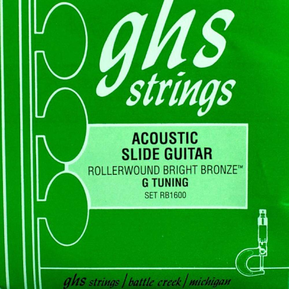 ghs strings bright bronze rollerwound acoustic slide guitar strings g tuning long mcquade. Black Bedroom Furniture Sets. Home Design Ideas
