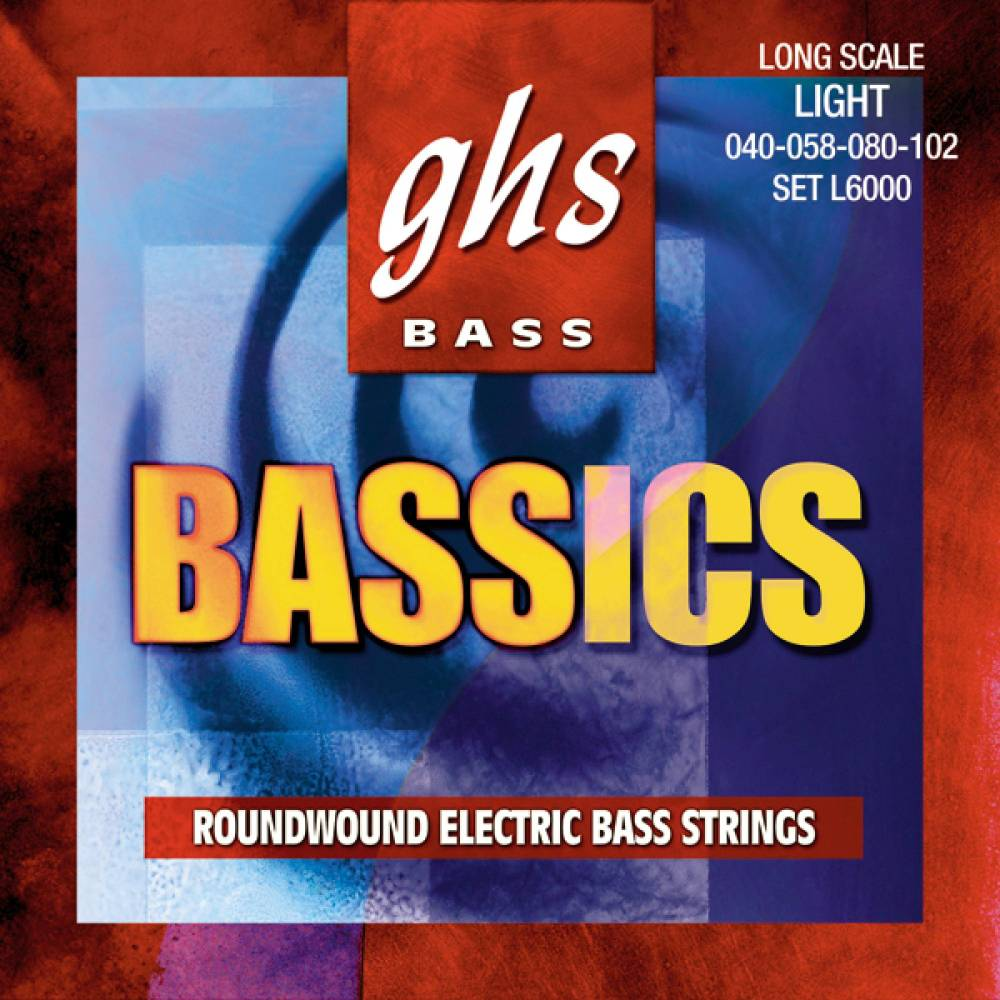 ghs strings bassics roundwound nickel and steel bass strings medium light long mcquade. Black Bedroom Furniture Sets. Home Design Ideas