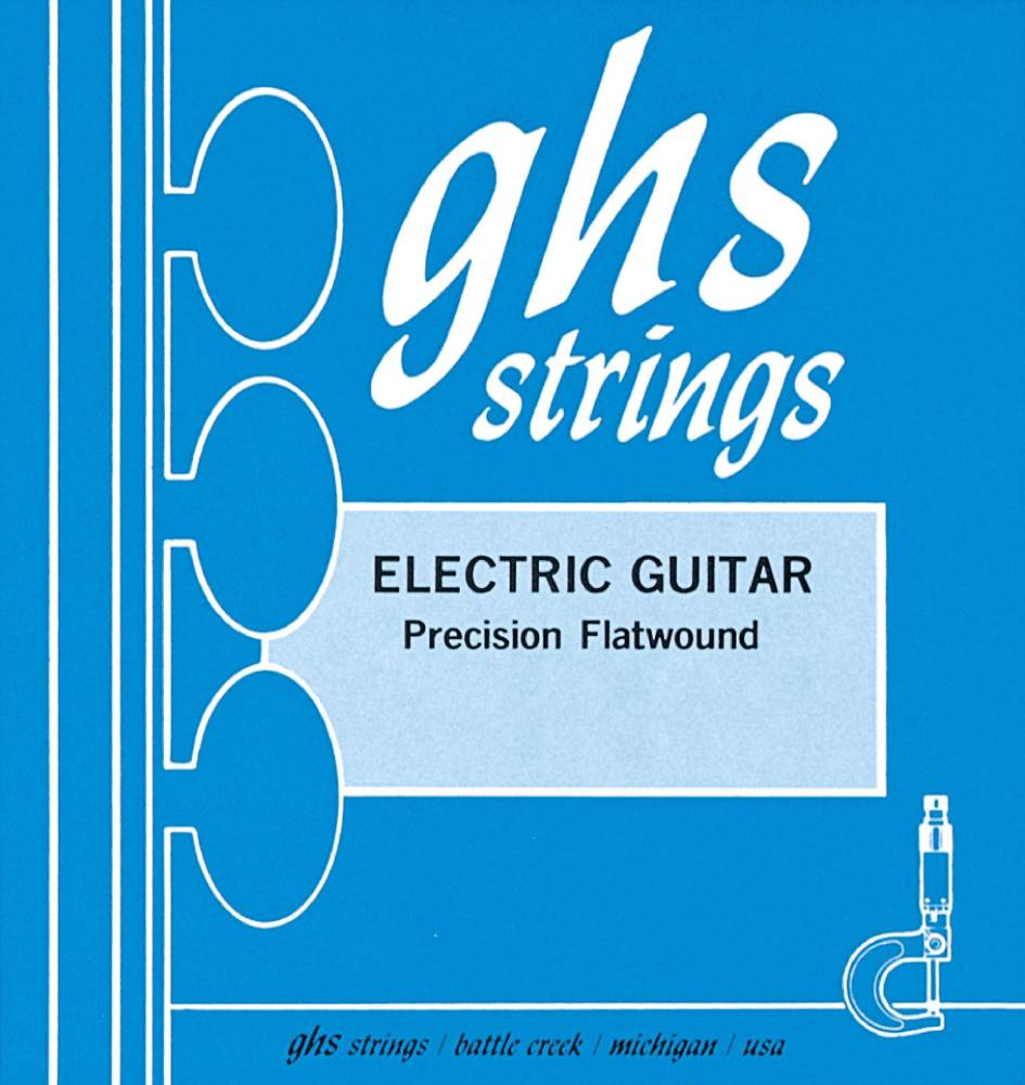 ghs strings precision flatwound guitar strings extra light long mcquade musical instruments. Black Bedroom Furniture Sets. Home Design Ideas