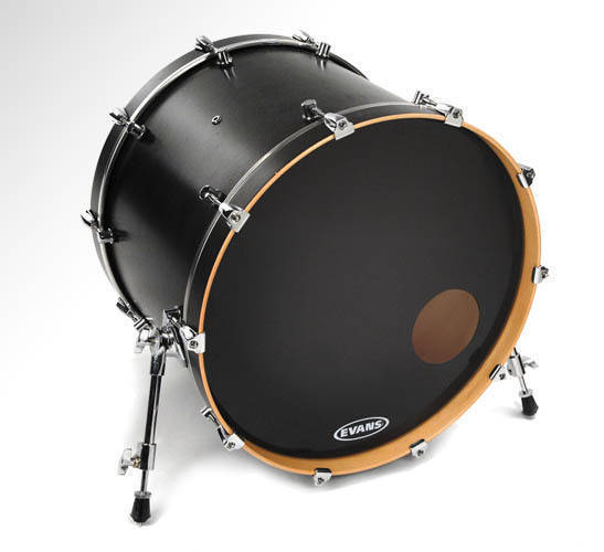 evans bd18ronx 18 inch onyx resonant drumhead long mcquade musical instruments. Black Bedroom Furniture Sets. Home Design Ideas