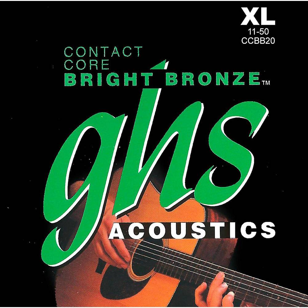 ghs strings contact core bright bronze acoustic guitar strings ultra light long mcquade. Black Bedroom Furniture Sets. Home Design Ideas