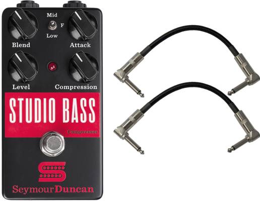Studio Bass Compressor Pedal w/ 2 Patch Cables