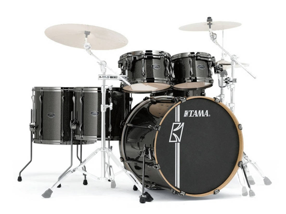 Tama - Superstar Hyper-Drive Shell Pack (22,10,12,14,16, Snare) in Maple -  Midnight Gold Sparkle