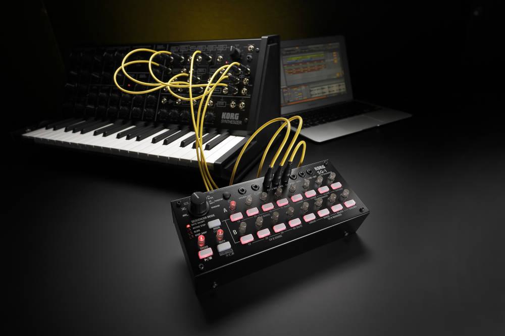 korg step sequencer w 2 x 8 steps long mcquade musical instruments. Black Bedroom Furniture Sets. Home Design Ideas