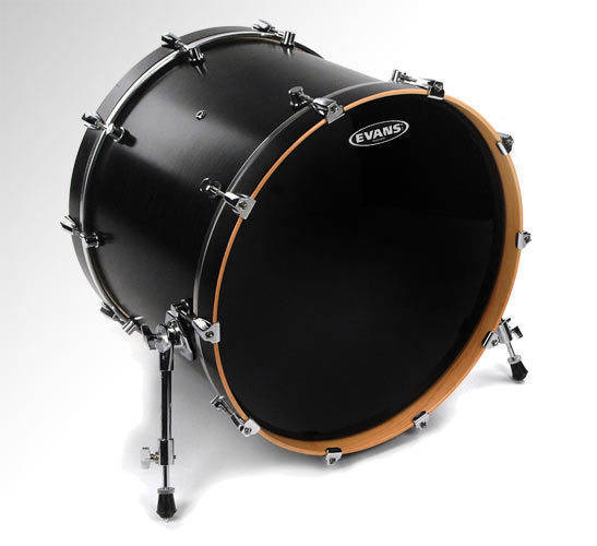 evans bd20rbg 20 inch resonant black drumhead long mcquade musical instruments. Black Bedroom Furniture Sets. Home Design Ideas