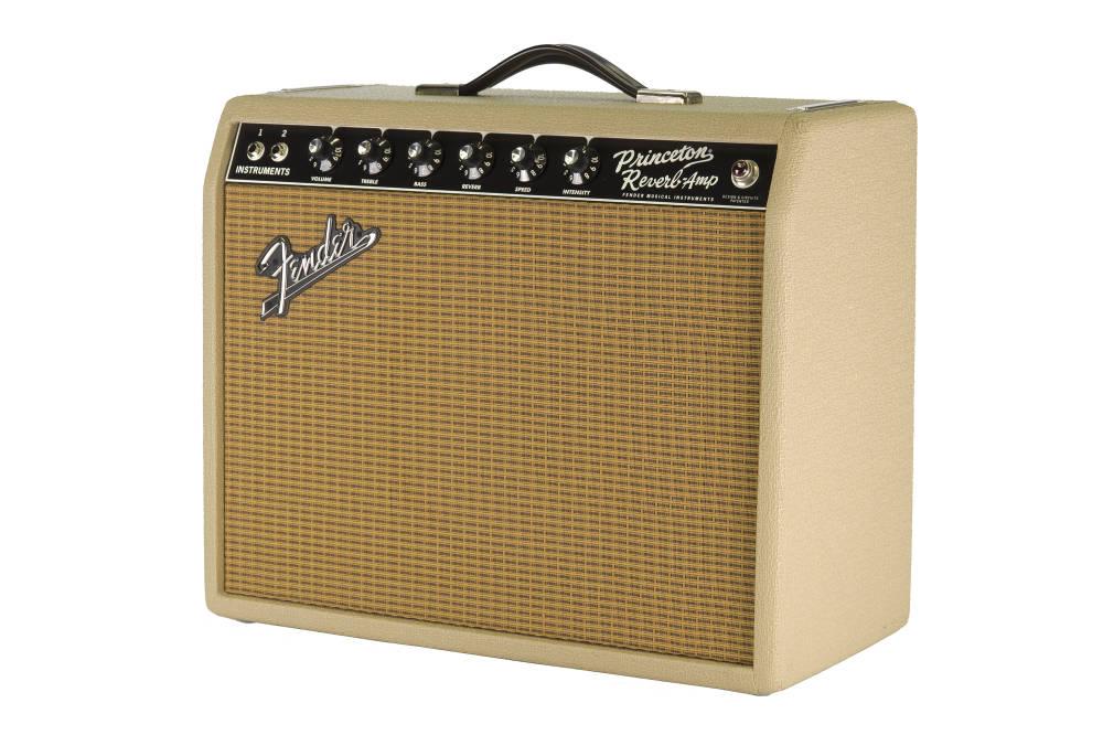 Fender 65 Princeton Reverb Blonde Wheat Long Amp Mcquade