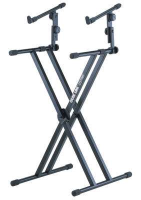 Double-Brace Keyboard Stand with Adjustable Second Tier