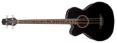 Takamine - G Series Acoustic Electric Bass Guitar w/ Venetian Cutaway - Black, Left Handed