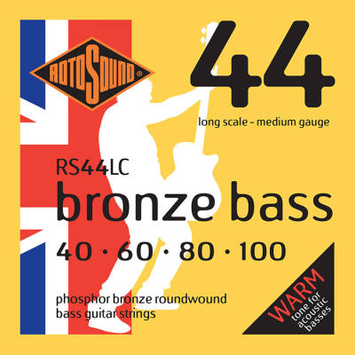 Phosphor Bronze Acoustic Bass Strings 40-100