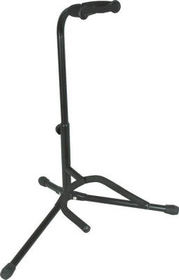 Deluxe Universal Guitar Stand with Safety Guard - Black